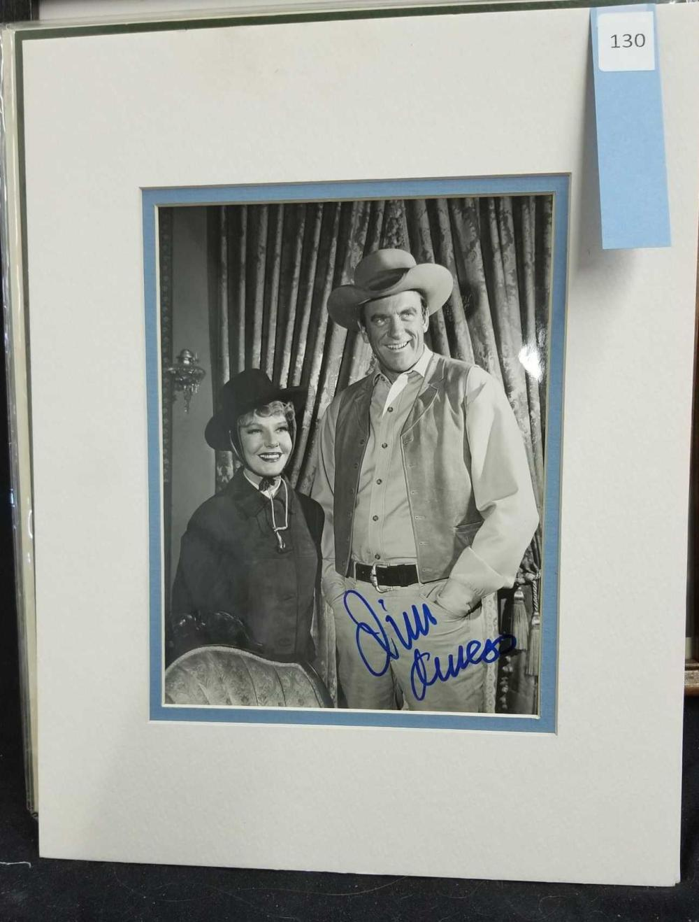 JAMES ARNESS BLACK & WHITE PUBLICITY SIGNED PHOTO