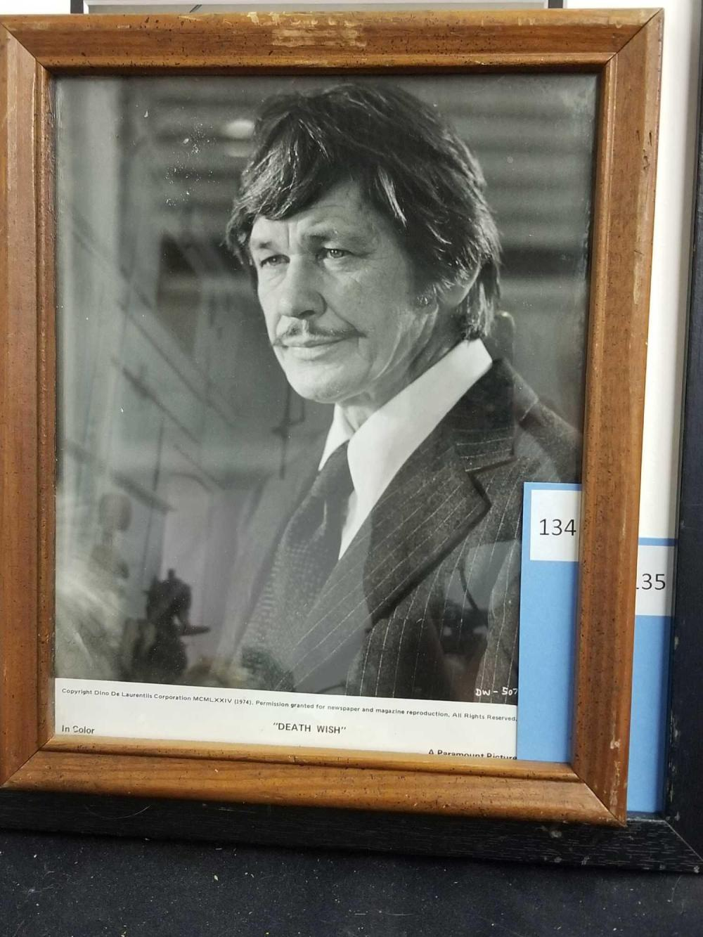 CHARLES BRONSON BLACK & WHITE SIGNED PUBLICITY PHOTO