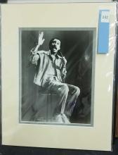 Lot 132: RICHARD PRYOR BLACK & WHITE SIGNED PUBLICITY PHOTO