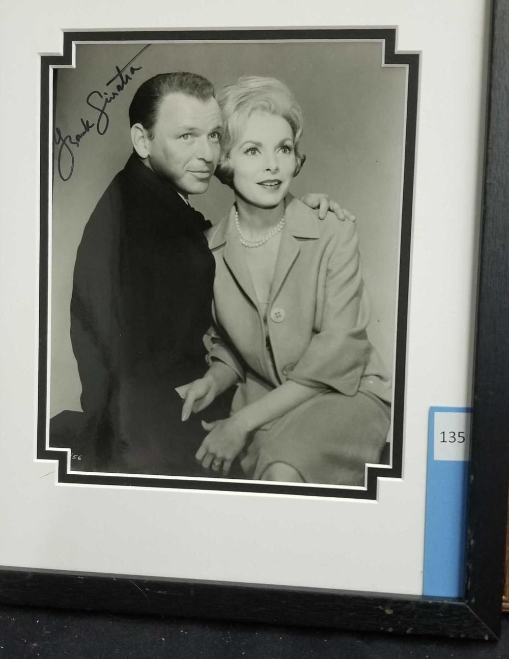 FRANK SINATRA W/ JANET LEIGH BLACK & WHITE PUBLICITY SIGNED PHOTO