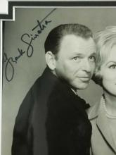 Lot 135: FRANK SINATRA W/ JANET LEIGH BLACK & WHITE PUBLICITY SIGNED PHOTO