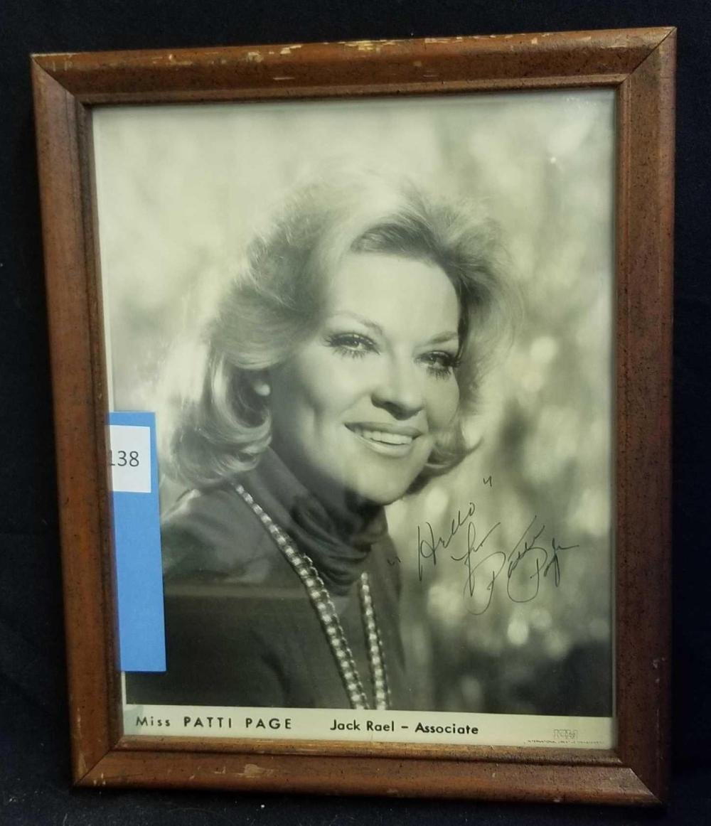 PATTI PAGE BLACK & WHITE SIGNED PUBLICITY PHOTO