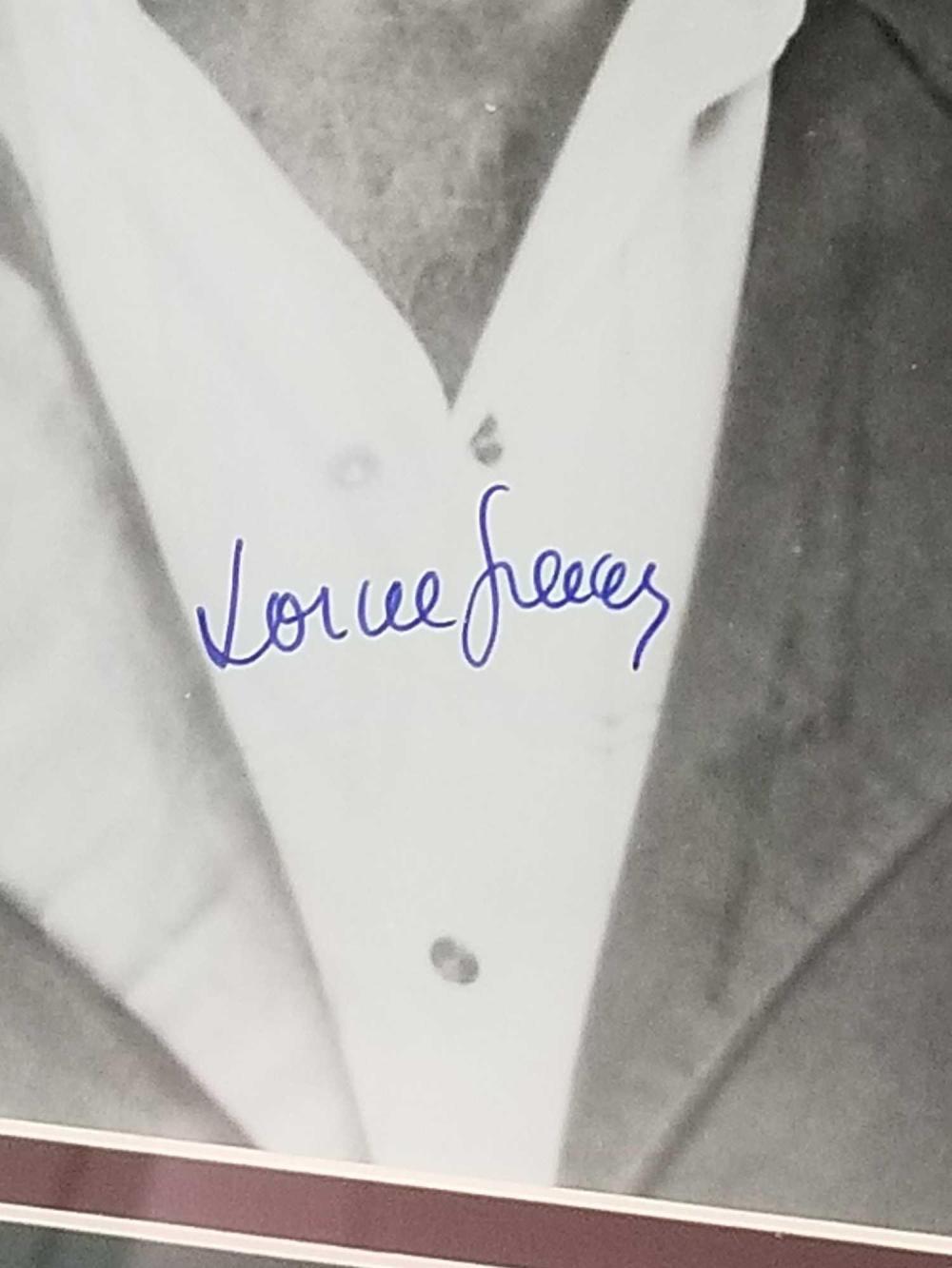 Lot 139: LORNE GREENE BLACK & WHITE SIGNED PUBLICITY PHOTO