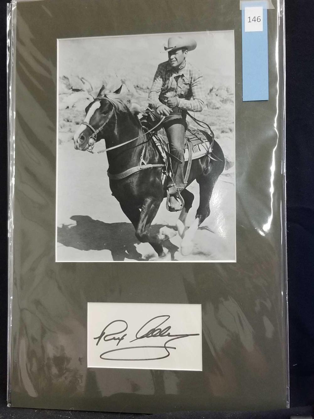 REX ALLEN BLACK & WHITE MOVIE STILL PHOTO & SIGNATURE CARD