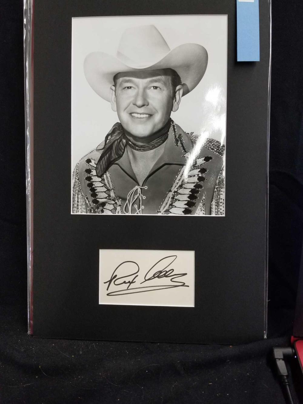 REX ALLEN BLACK & WHITE PUBLICITY PHOTO W/ SIGNATURE CAED
