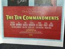 "Lot 145: DEBRA PAGET SIGNED ""THE TEN COMMANDMENTS"" REPRODUCTION POSTER"