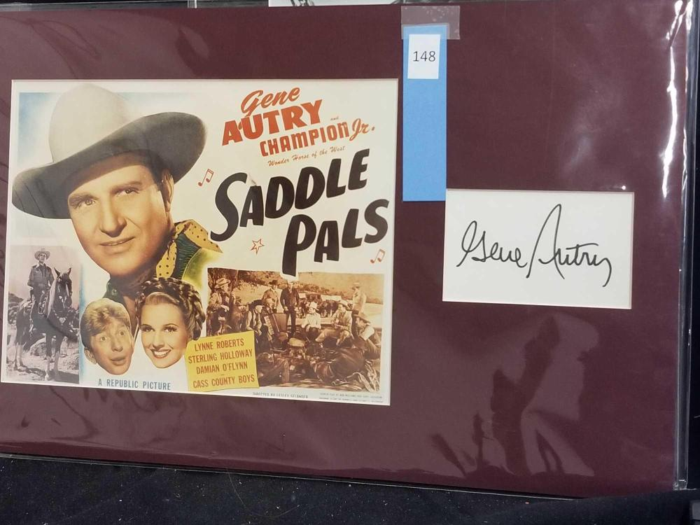 GENE AUTRY LOBBY CARD & SIGNATURE CARD