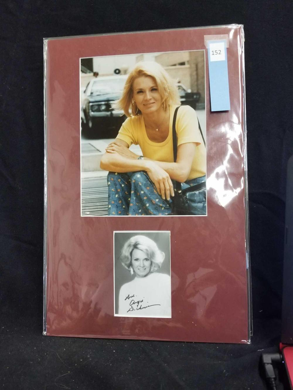 ANGIE DICKINSON COLOR PUBLICITY PHOTO & SIGNED BLACK & WHITE PHOTO