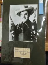 Lot 156: FRED SCOTT BLACK & WHITE PUBLICITY PHOTO W/ SIGNATURE CARD