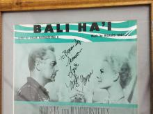 "Lot 159: MITZI GAYNOR SIGNED ""SOUTH PACIFIC"" COLOR SHEET MUSIC"