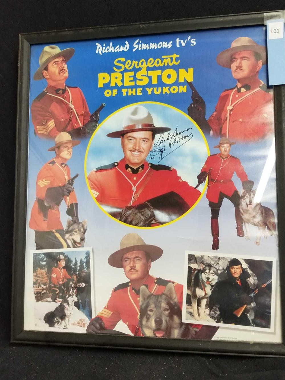 SERGEANT PRESTON OF THE YUKON COLOR SIGNED POSTER