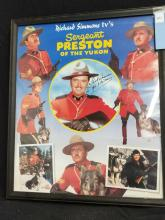 Lot 161: SERGEANT PRESTON OF THE YUKON COLOR SIGNED POSTER