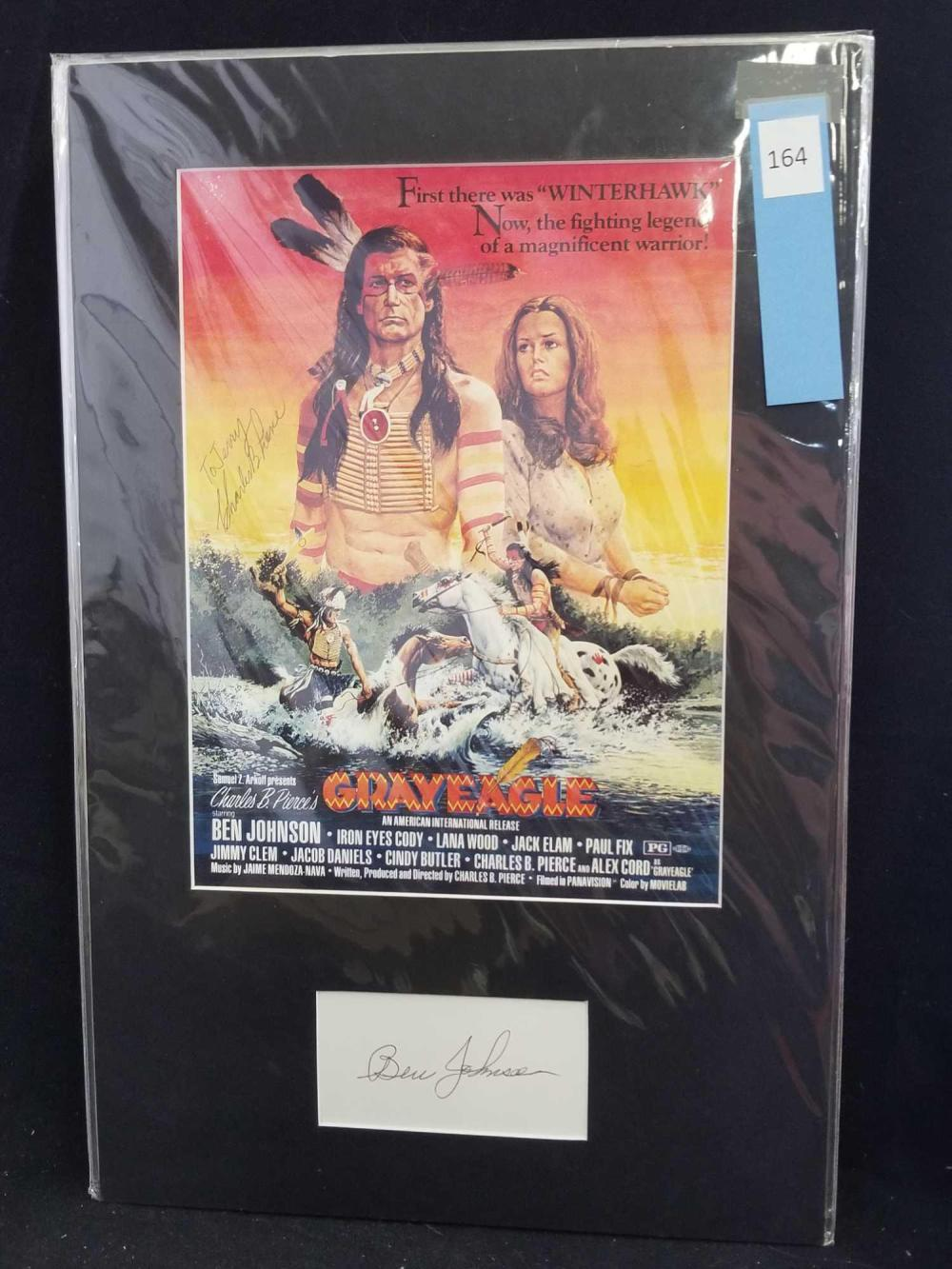 """GRAYEAGLE"" REPRODUCTION COLOR MOVIE POSTER SIGNED W/ SIGNATURE CARD"