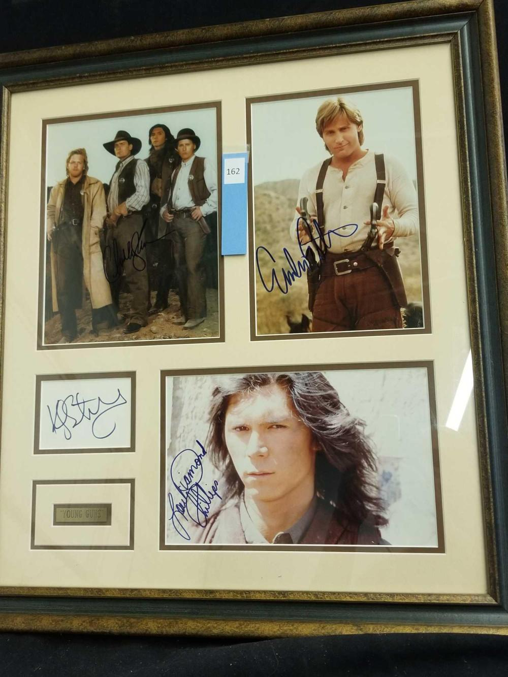 """YOUNG GUNS"" MOVIE CAST SIGNED PHOTOS W/ NAME PLAQUE"