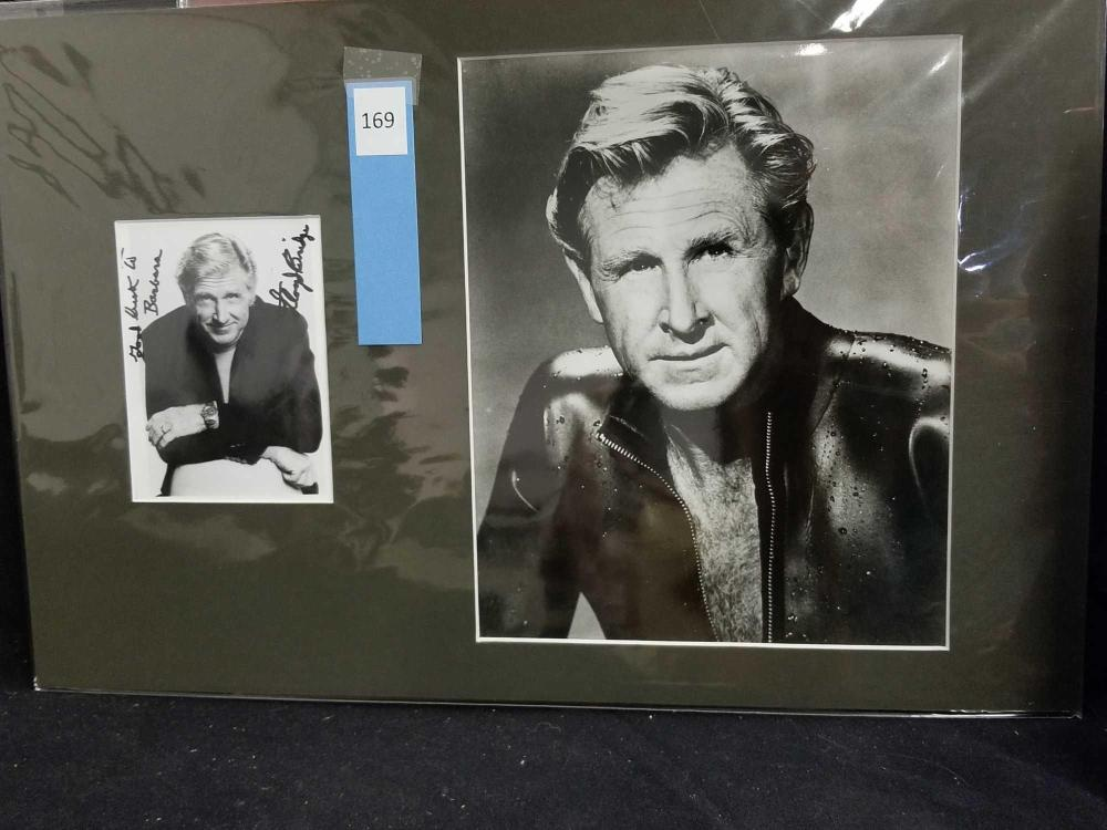 LLOYD BRIDGES BLACK & WHITE PUBLICITY PHOTO & SIGNED SMALLER PUBLICITY PHOTO