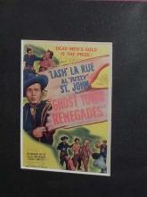 "Lot 171: LASH LA RUE"" SIGNED BLACK & WHITE PHOTO W/6 MINIATURE REPRODUCTION LOBBY CARDS"