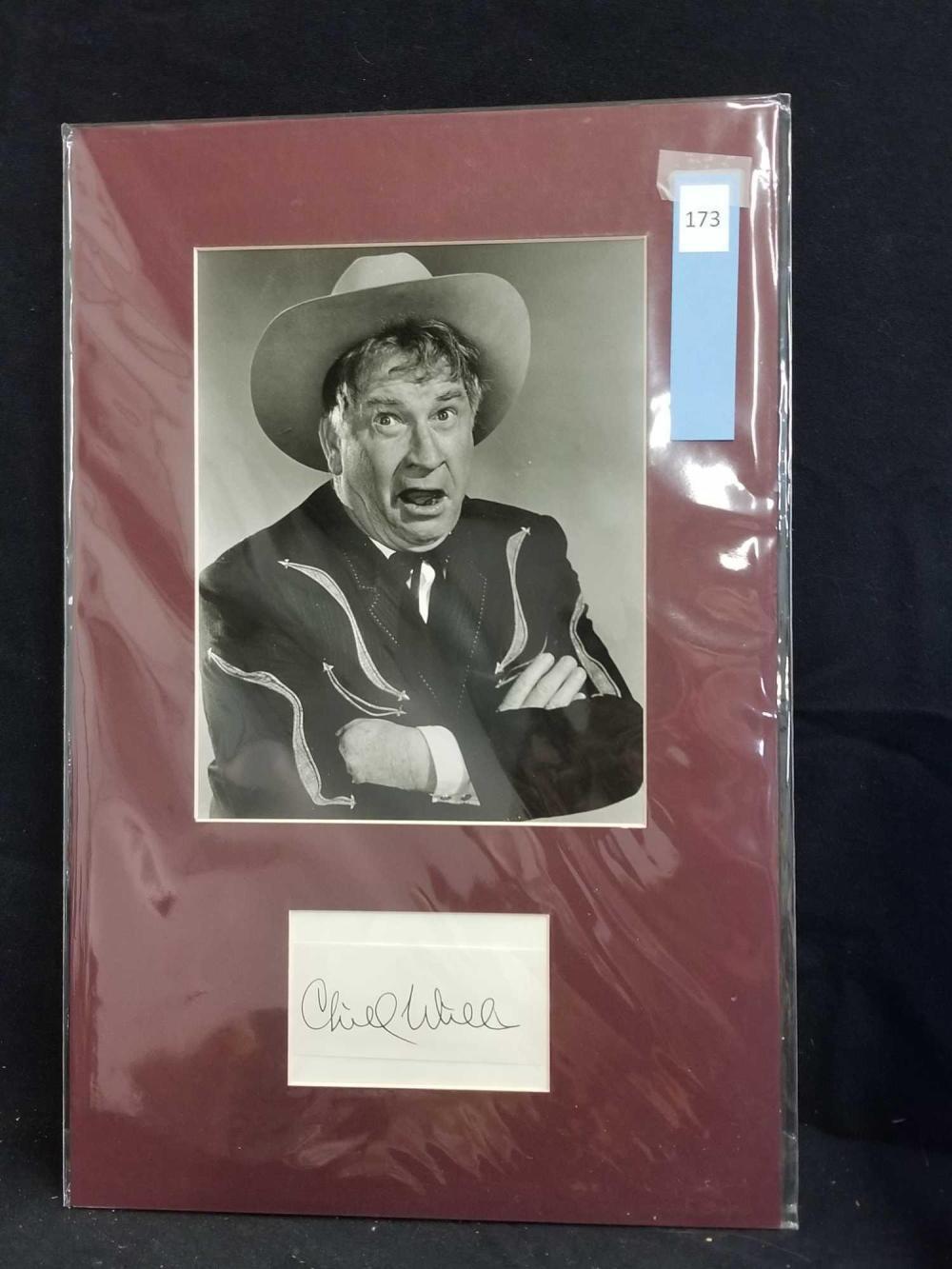 CHILL WILLS BLACK & WHITE PUBLICITY PHOTO W/ SIGNATURE CARD