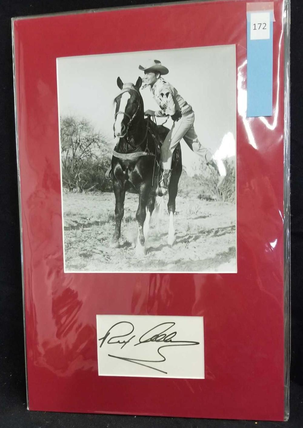 REX ALLEN BLACK & WHITE PUBLICITY PHOTO W/ SIGNATURE CARD