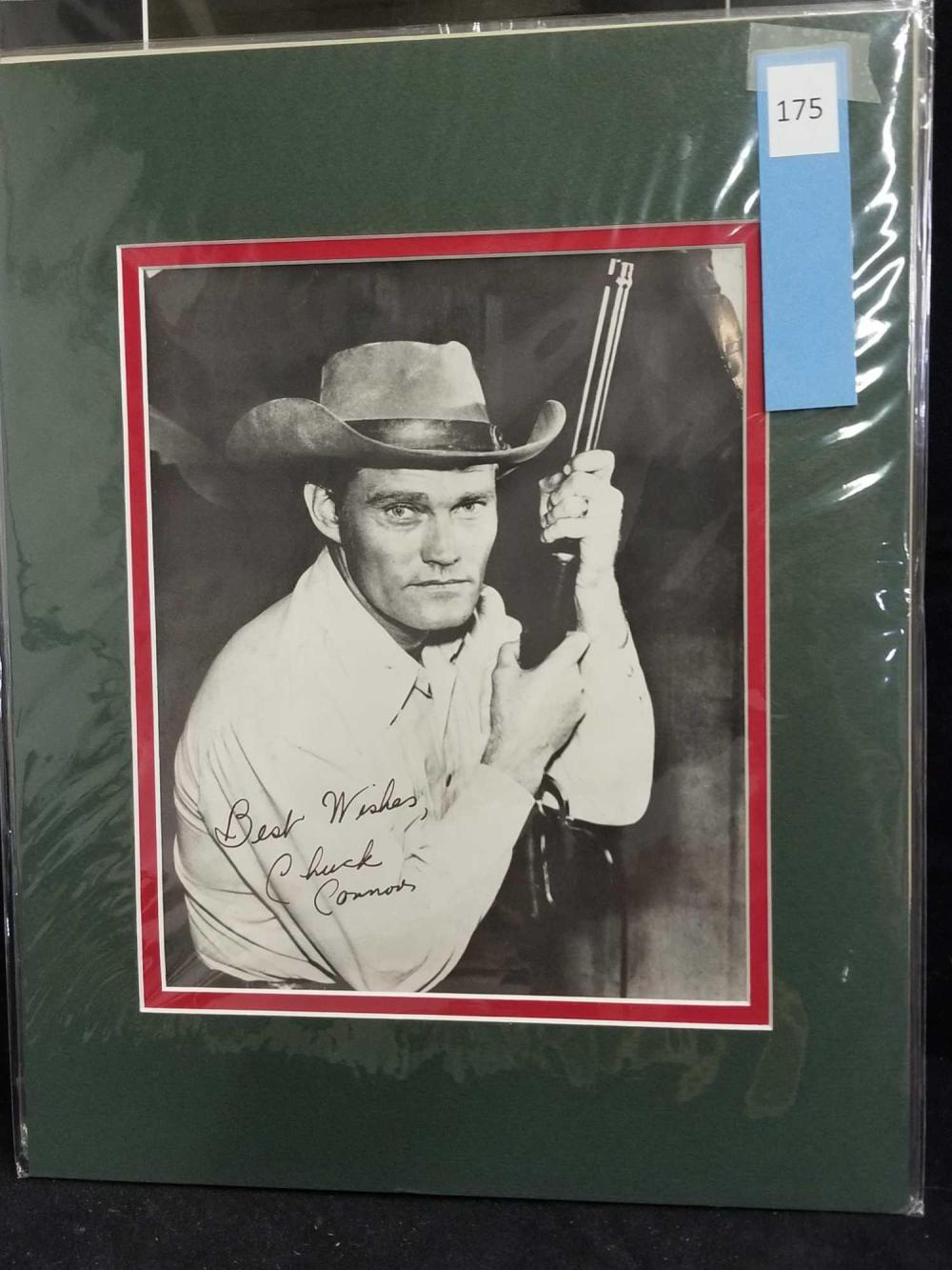 CHUCK CONNORS BLACK & WHITE SIGNED PUBLICITY PHOTO