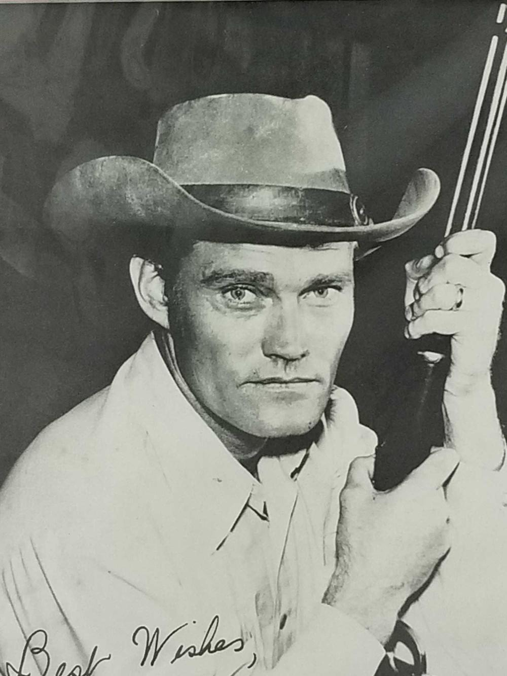 Lot 175: CHUCK CONNORS BLACK & WHITE SIGNED PUBLICITY PHOTO