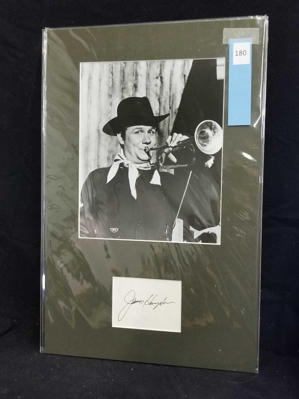 JAMES HAMPTON BLACK & WHITE PUBLICITY PHOTO W/ SIGNATURE CARD