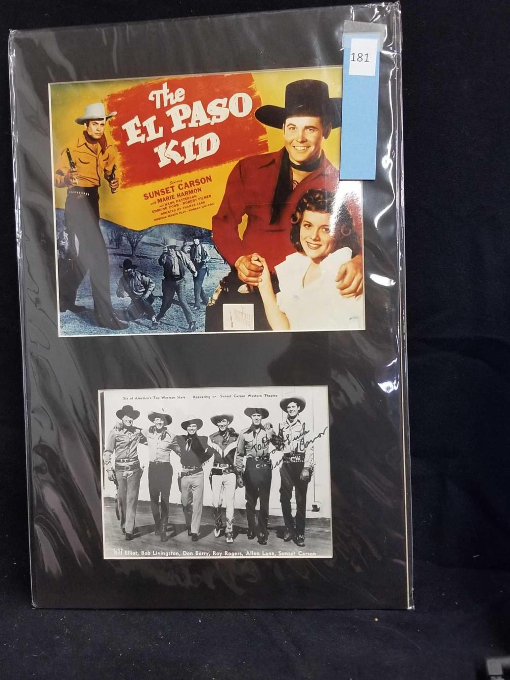 "REPRODUCTION MOVIE POSTER OF ""THE EL PASO KID"" & COPY OF THE SIX TOP WESTERN STARS"