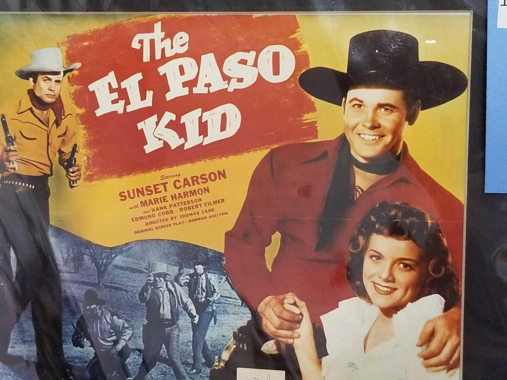 """Lot 181: REPRODUCTION MOVIE POSTER OF """"THE EL PASO KID"""" & COPY OF THE SIX TOP WESTERN STARS"""