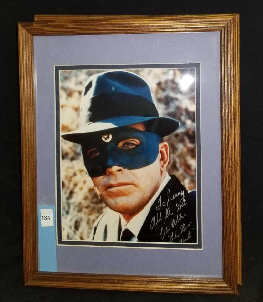 "VAN WILLIAMS ""THE GREEN HORNET"" SIGNED COLOR PUBLICITY PHOTO"