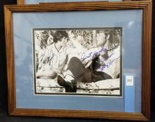 Lot 188: PAM DARBY & GLEN CAMPBELL DOUBLE SIGNED BLACK & WHITE MOVIE STILL PHOTO