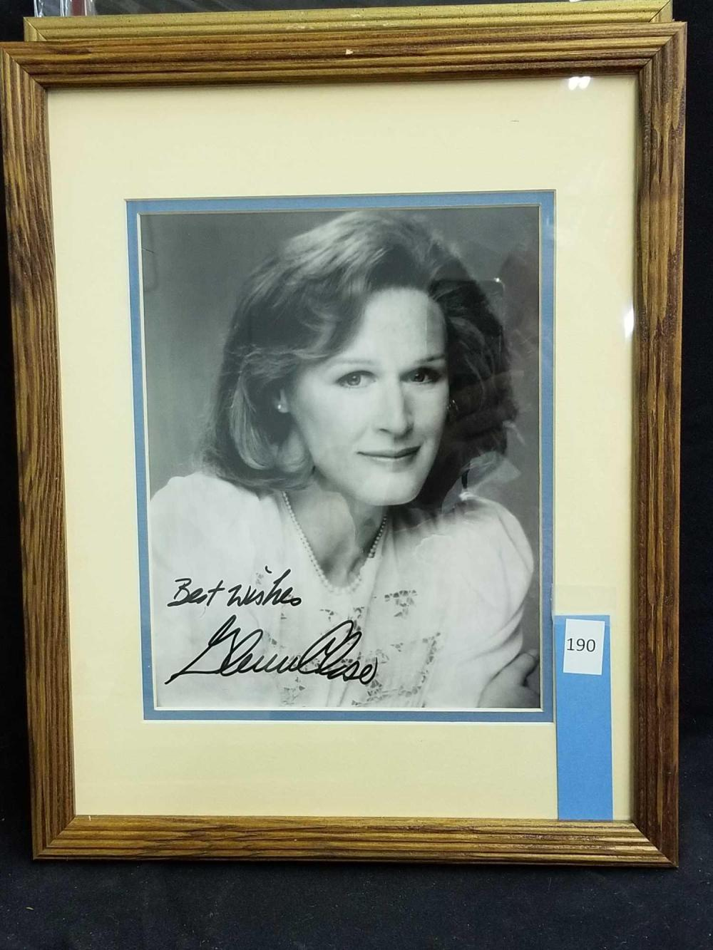 GLENN CLOSE SIGNED BLACK & WHITE PUBLICITY PHOTO