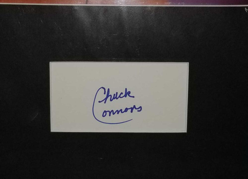 Lot 194: CHUCK CONNORS COLOR PUBLICITY PHOTO & SIGNATURE CARD