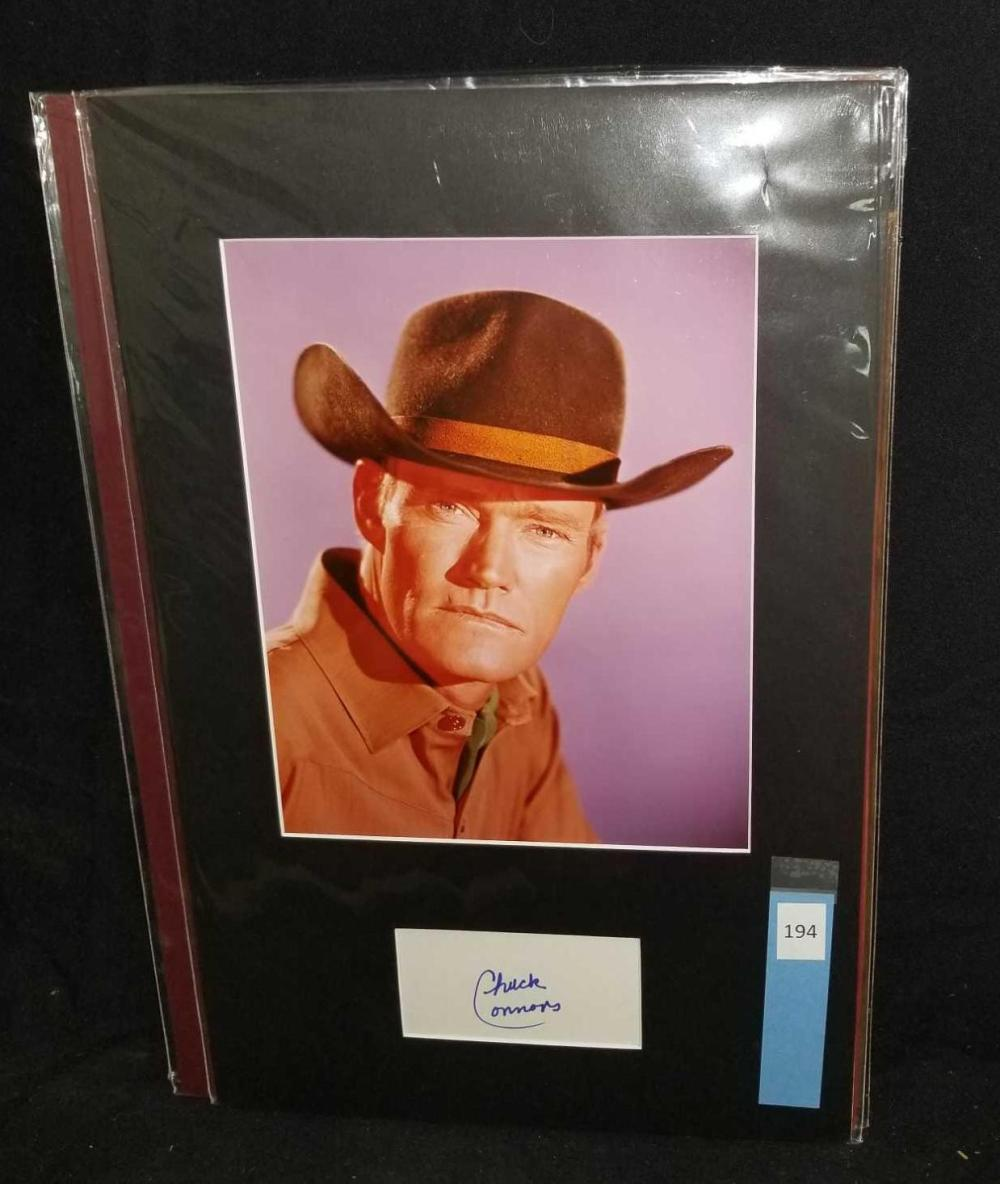 CHUCK CONNORS COLOR PUBLICITY PHOTO & SIGNATURE CARD