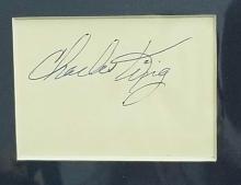 Lot 197: CHARLES KING BLACK & WHITE MOVIE STILL PHOTO W/ SIGNATURE CARD
