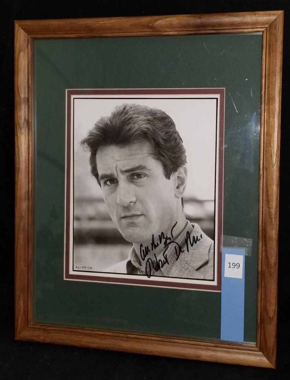 ROBERT DE NIRO SIGNED BLACK & WHITE PUBLICITY PHOTO