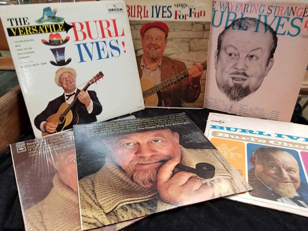 VINTAGE BURL IVES 33 1/3 ALBUMS - 6 TOTAL