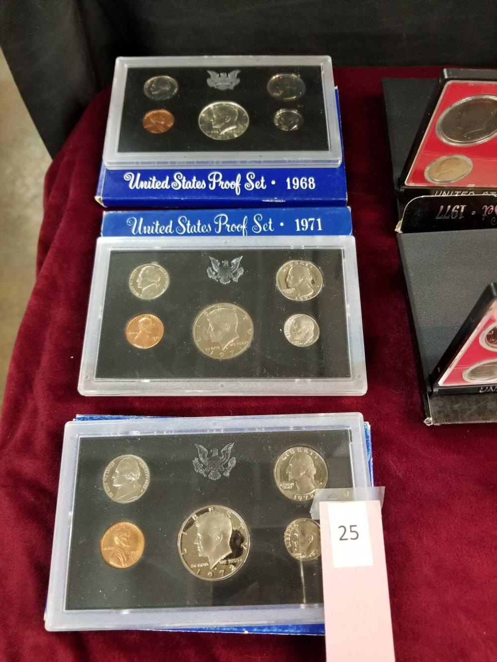 1968, 1971 & 1972 U.S. PROOF COIN SETS - 3 ITEMS