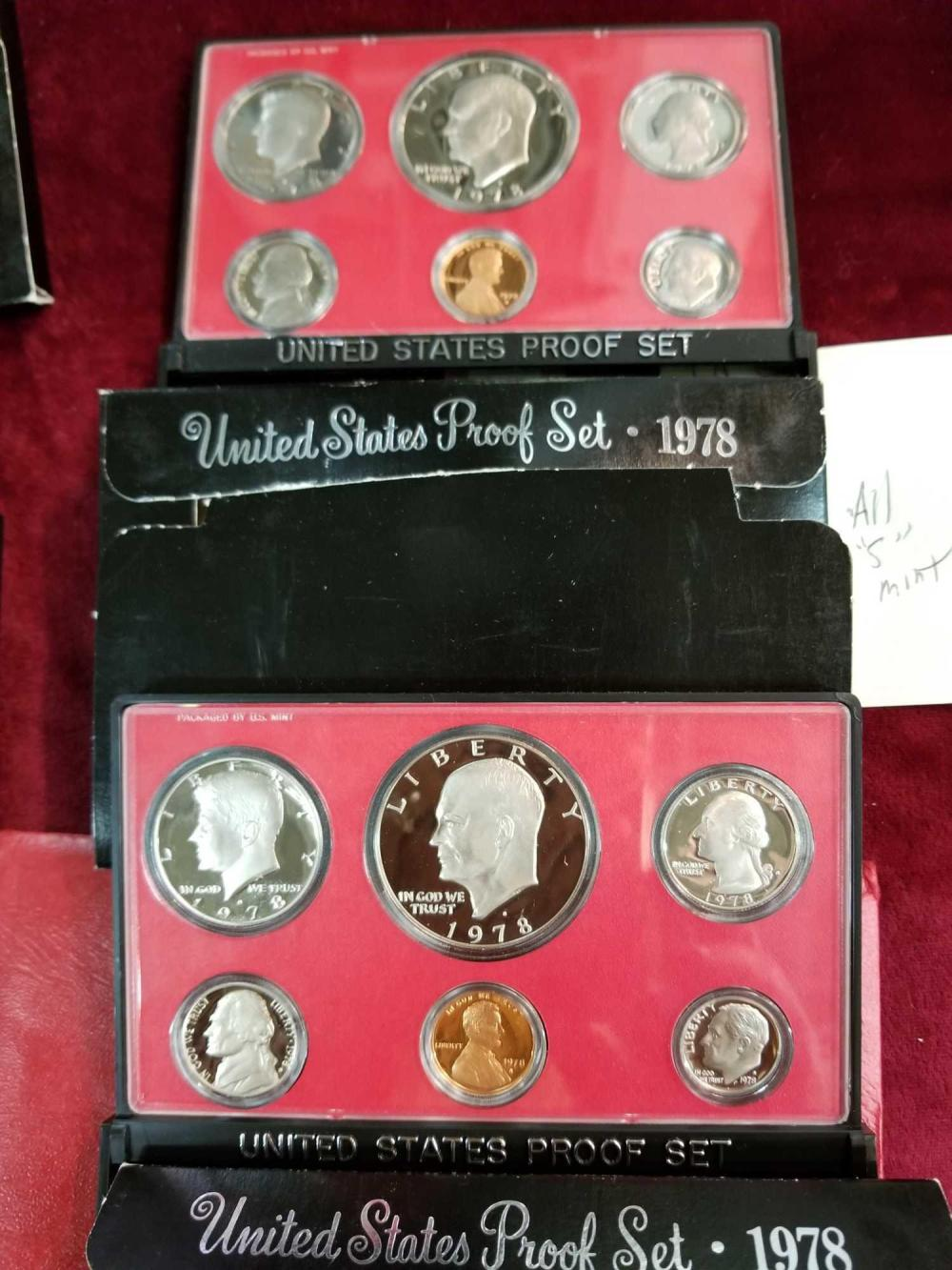 1978 U.S. COIN PROOF SETS - 2 ITEMS