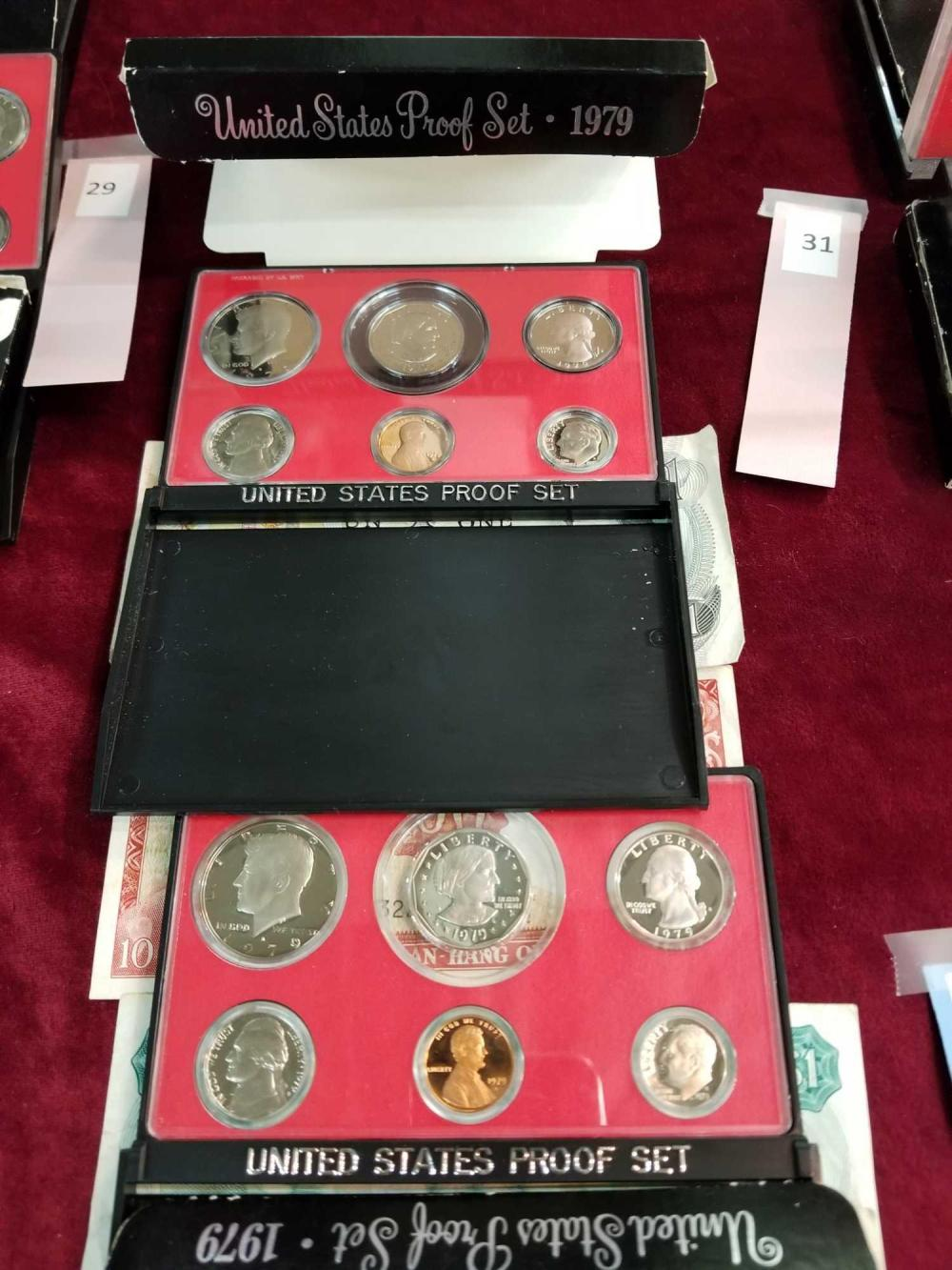 1979 U.S. PROOF COIN SETS - 2 ITEMS