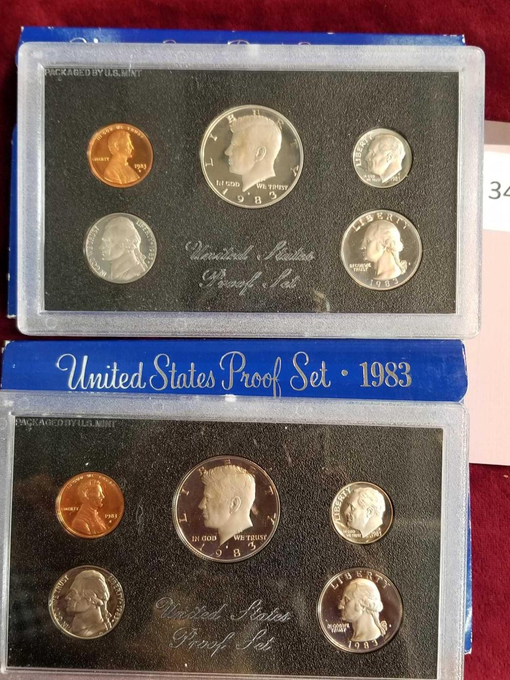 1983 U.S. COIN PROOF SETS - 2 TEMS