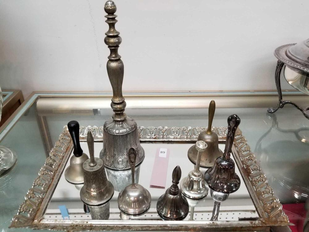 COLLECTIBLE SILVER BELLS - 8 ITEMS