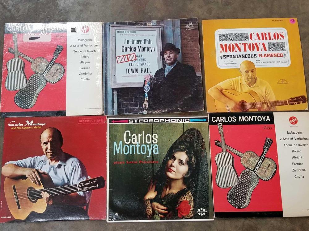 VINTAGE CARLOS MONTOYA 33 1/3 RECORD ALBUMS - 6 ITEMS