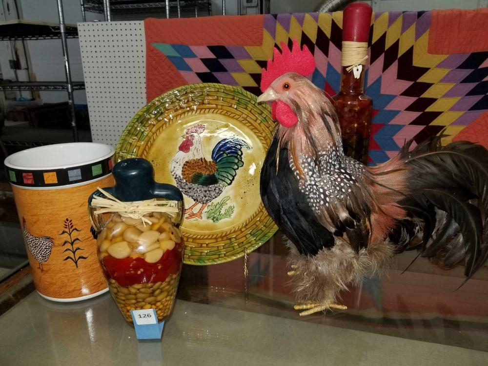 ROOSTER THEMED DECOR ITEMS - 5 PCS.