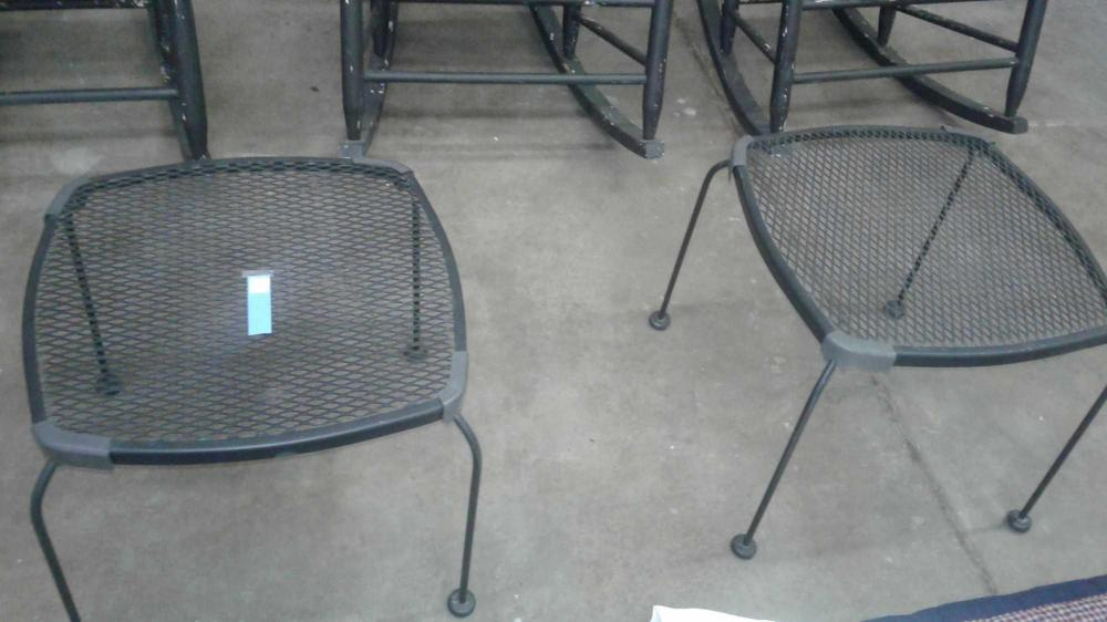 MODERN EXTRUDED METAL PATIO COCKTAIL TABLES - 2 ITEMS