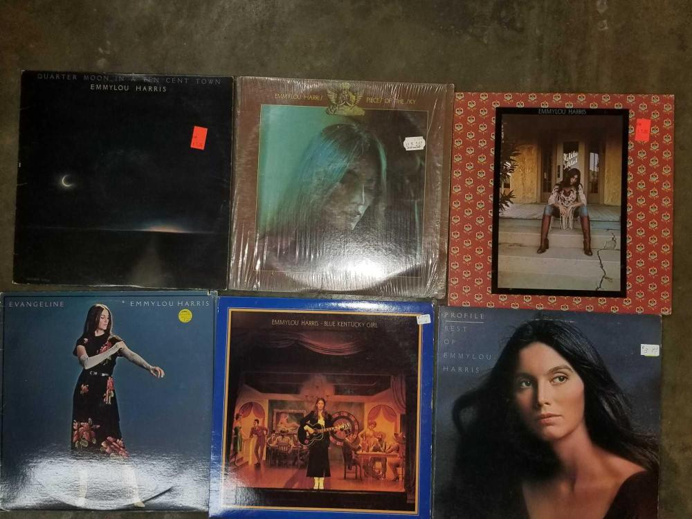 EMMY LOU HARRIS 33 1/3 RECORD ALBUMS - 7 ITEMS