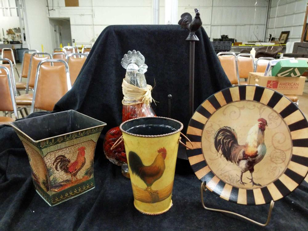 ROOSTER KITCHEN DECOR (5 TOTAL)