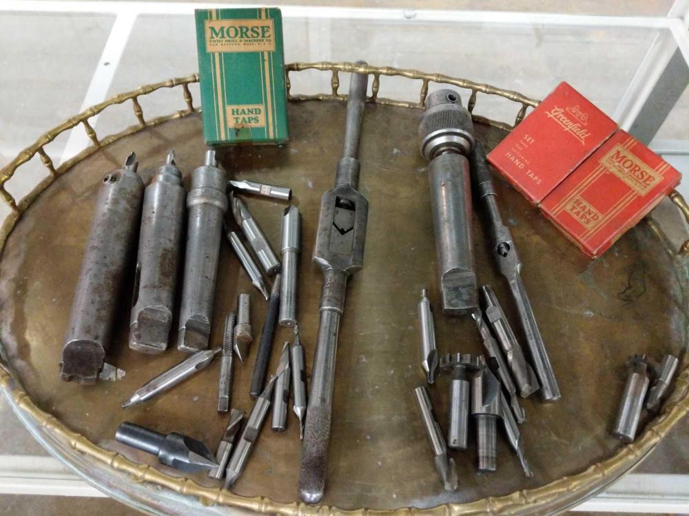 ASSORTMENT OF MORSE & GREENFIELD MACHINIST TOOLS -31 PCS.