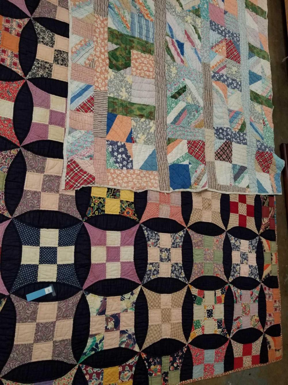 VINTAGE HAND MADE QUILTS - 2 ITEMS