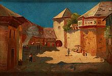 Andor Basch (1885-1944) Street