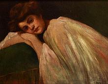 Károly Hollós Holczer (1873-?) Portrait of Lányi Etelka