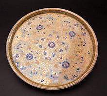 Zsolnay Tray with Millennium Decoration